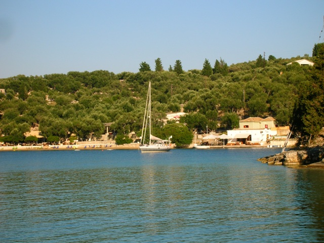 The beautyful harbour ofl Mongonissi, Paxos island